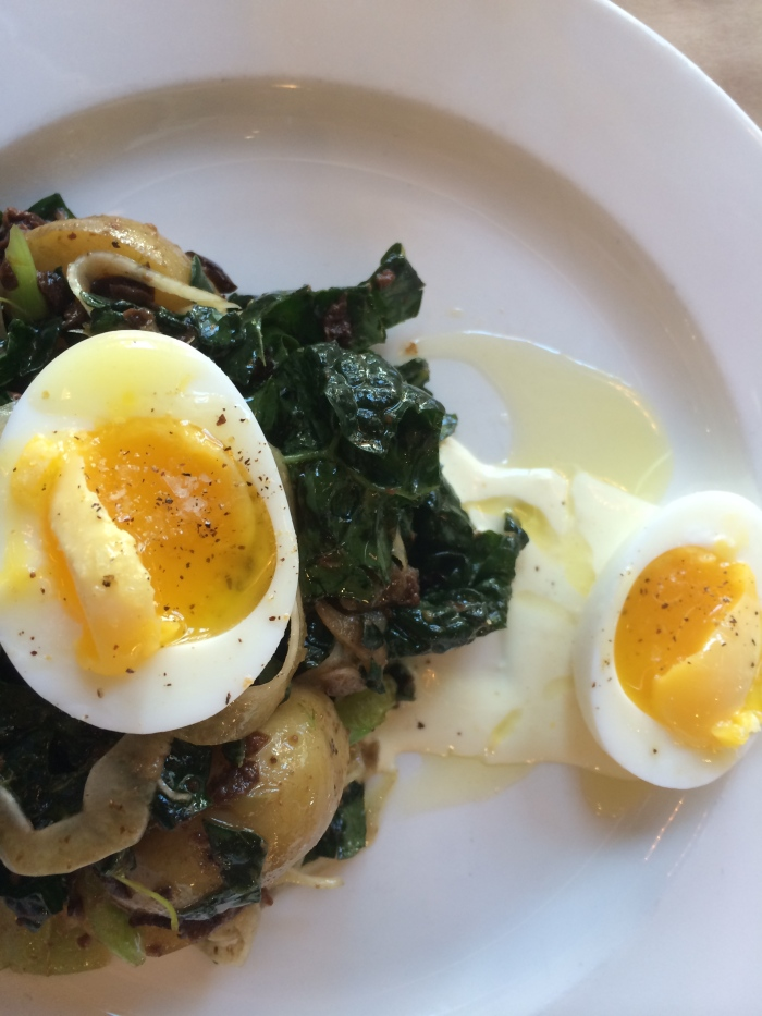 the whale wins: kale & egg salad//wanderaven