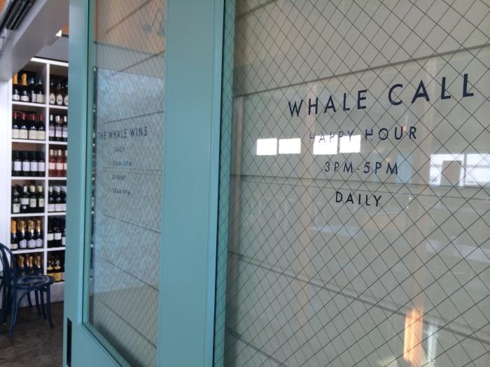 whale wins entrance