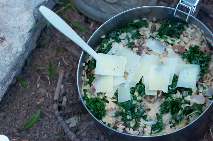 campfire mushroom and kale pasta//wanderaven