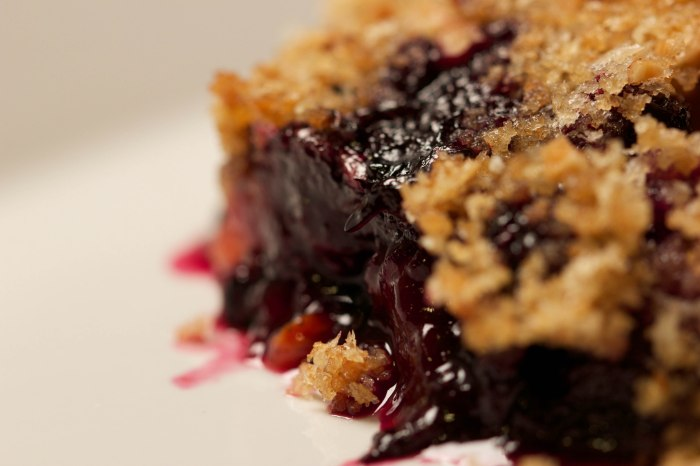 extra-crispy peach and blueberry crisp (from the messy baker)//wanderaven